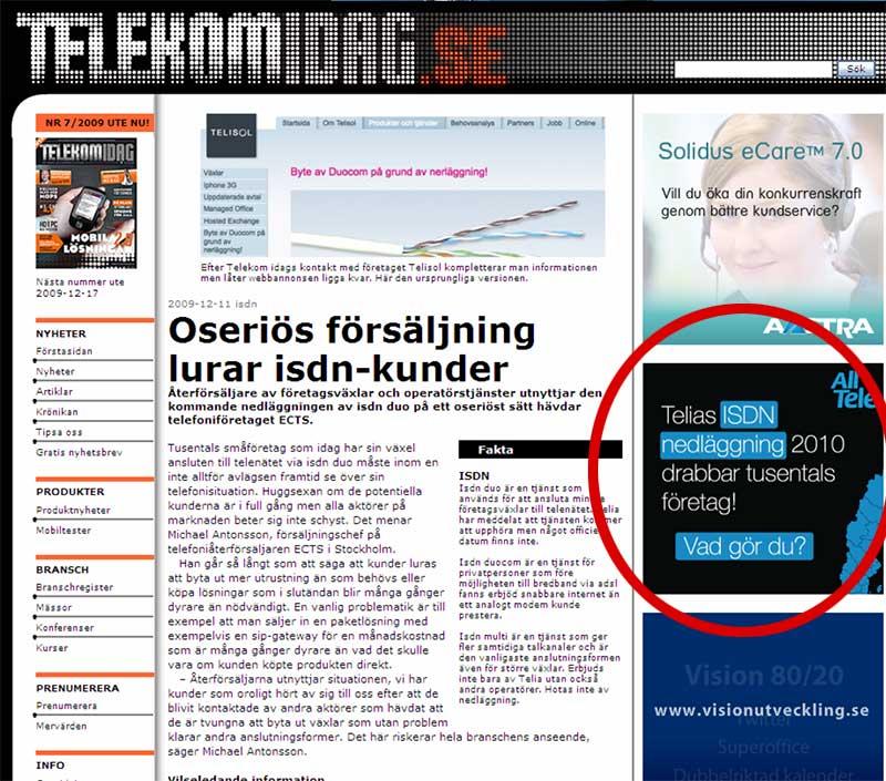 Telisol Telekomidag ISDN Telia Alltele