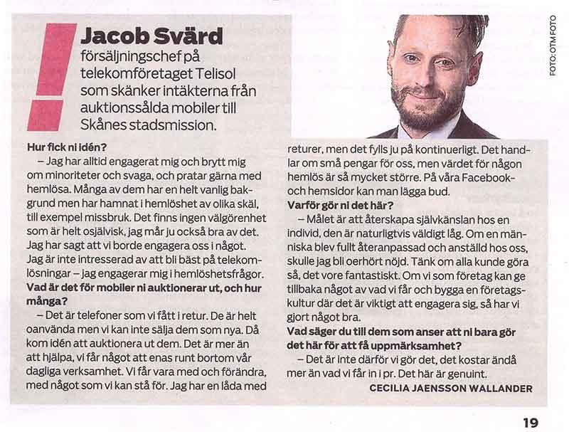 Telisol outlet Jakob Svärd Telekom telekombranschen seriös seriöst telia